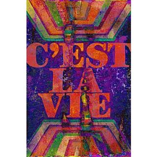 Marmont HIll Cest La Vie by Art Collective Graphic Art on Wrapped Canvas; 60 H x 40 W