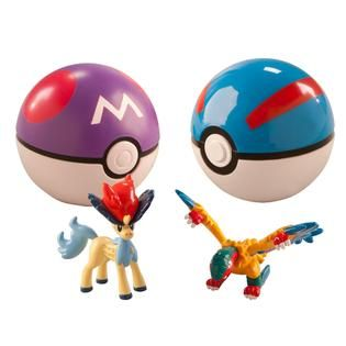 Tomy Pokemon Clip and Carry Pokeball 2 pack Keldio/Master Ball and