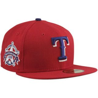 New Era Texas Rangers 1995 Cooperstown All Star Patch 59FIFTY Fitted Hat   Red