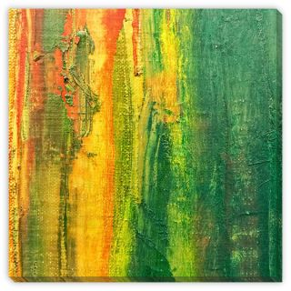 Mr Twisters  Green Yellow and Orange Abstract Canvas Gallery Wrap