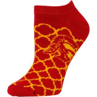 USC Trojans For Bare Feet Womens Quatrefoil Ankle Socks