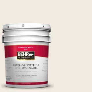 BEHR Premium Plus 5 gal. #W F 210 Nude Hi Gloss Enamel Interior/Exterior Paint 805005