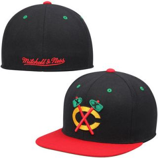 Chicago Blackhawks Mitchell & Ness Vintage 2Tone Fitted Hat – Black