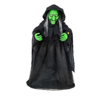 Home Accents Holiday 36 in. Animated Halloween Witch with Animated Moving Jaw 6330 36689