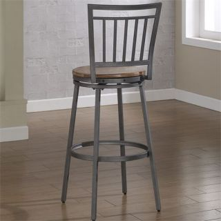 American Woodcrafters B1 101 30W Filmore Bar Stool in Slate Grey with Golden Oak Seat