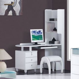 Global Furniture EMILY EVELYN WH SD Emily Evelyn Study Desk in White