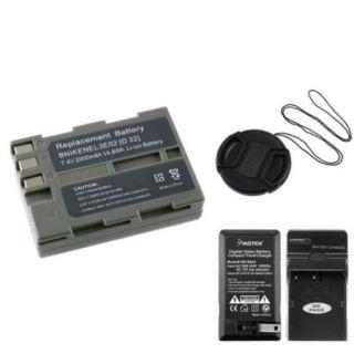 Insten EN EL3a EN EL3e Battery + Charger for Nikon D50 D70+CAP