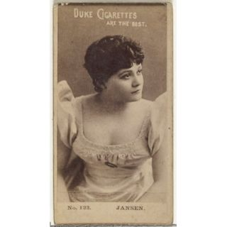 Card Number 123 Jansen from the Actors and Actresses series (N145 6) issued by Duke Sons & Co. to promote Duke Cigarettes Poster Print (18 x 24)