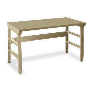 "EDSAL Workbench, Steel Frame Material, 72"" Width, 30"" Depth  Steel Work Surface Material   1PB22