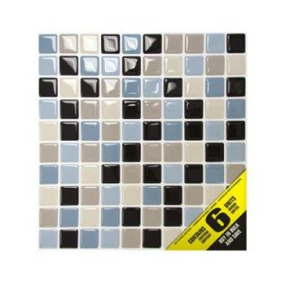 Smart Tiles 9.85 in. x 9.85 in. Mosaic Adhesive Decorative Wall Tile in Maya (6 Pack) SM1004 6