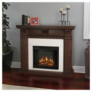 Real Flame Porter Electric Fireplace   Vintage Black Maple