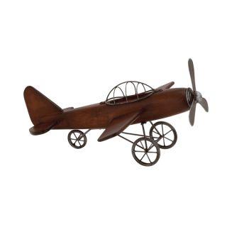Fascinating Styled Wood Metal Airplane   18738802