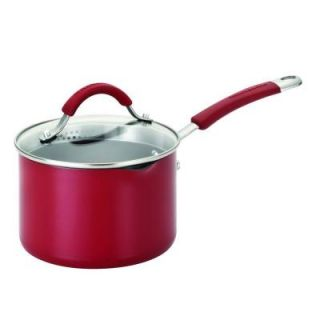 KitchenAid 2 qt. Covered Straining Saucepan w/ Pour Spouts in Red DISCONTINUED 11650