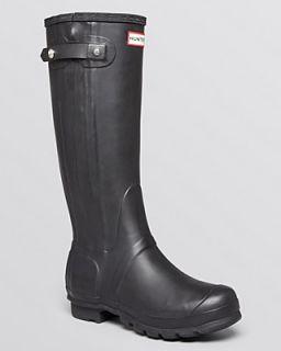 Hunter Rain Rain Boots   Original Slim Zip Textured