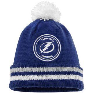 Tampa Bay Lightning Mitchell & Ness Big Man Hi Five Cuffed Knit Hat   Blue