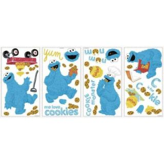 RoomMates 5 in. x 11.5 in. Sesame Street   Me Love Cookie Monster Peel and Stick Wall Decal RMK2626SCS