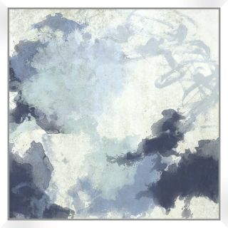 PTM Images Water Color Abstract with Floater Framed on Wrapped Canvas