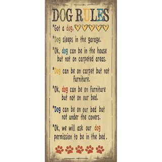 Jo Moulton Dog Rules Paper Print (Unframed)