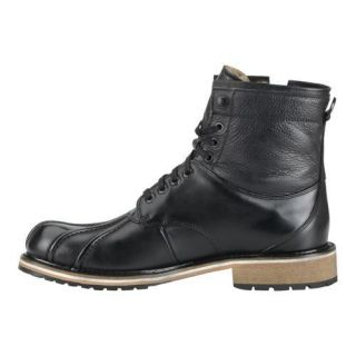 Mens Marc New York by Andrew Marc Rutland Boot Black/Asphalt Leather