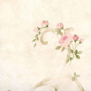 Chesapeake 56.4 sq. ft. Escot Blush Tearose Acanthus Wallpaper MEA77761