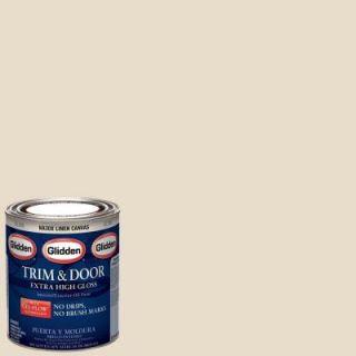 Glidden Trim and Door 1 qt. Linen Canvas Gloss Interior/Exterior Oil Paint GL  304  04