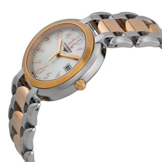Longines Prima Luna Mother of Pearl Dial Steel and Rose Gold Ladies