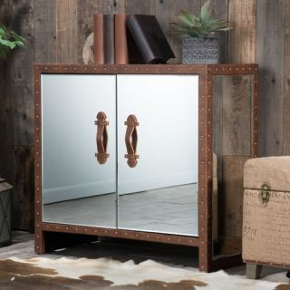 Home Loft Concepts Evelyn Mirrored 2 Door Cabinet