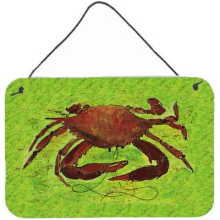Crab Aluminum Hanging Painting Print Plaque by Carolines Treasures