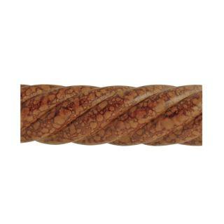 allen + roth Tortoise Wood Single Curtain Rod