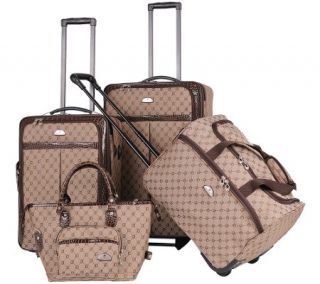 American Flyer Signature 4 Piece Luggage Set —