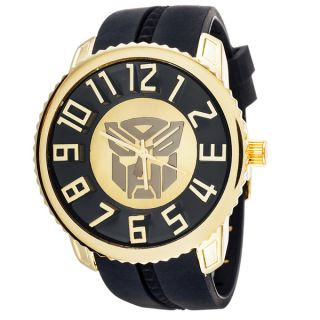 Transformers Autobot Sporty Jumbo Goldtone 3D Watch   16345261