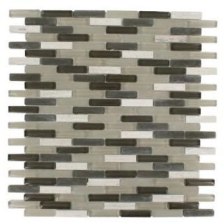 Splashback Tile Cleveland Staunton Mini Brick 10 in. x 11 in. x 8 mm Mixed Materials Mosaic Floor and Wall Tile CLEVELAND STAUNTON MINI BRICK