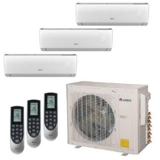 GREE Multi 21 Zone 30,000 BTU 2.5 Ton Ductless Mini Split Air Conditioner with Heat, Inverter, Remote   208 230 Volt/60Hz MULTI30HP303