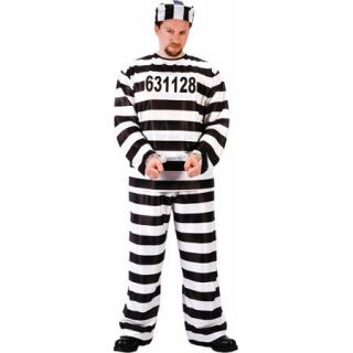 Fun World Jailbird Adult Halloween Dress Up / Role Play Costume
