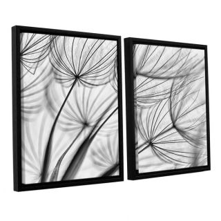 ArtWall Cora Nieles Parachute Seed II 2 piece Floater Framed Canvas