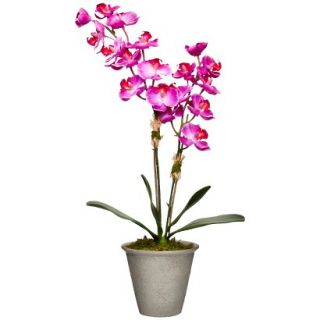 Smith & Hawken® Faux Purple Orchid in Ceramic Pot   16