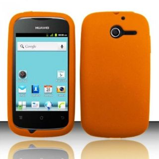 Insten Orange Silicone Soft Skin Case Cover For Huawei Ascend Y M866