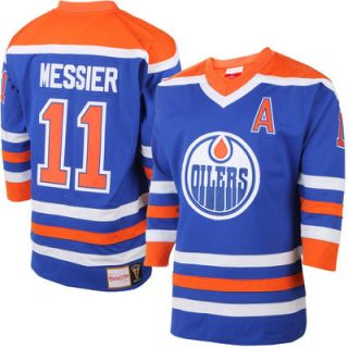 Mark Messier Edmonton Oilers Mitchell & Ness Throwback Authentic Vintage Jersey   Blue