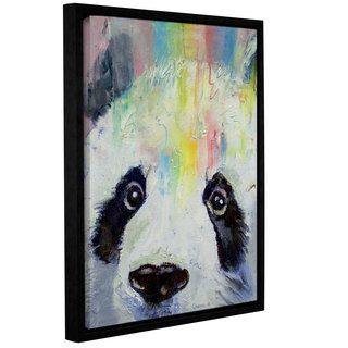 ArtWall Michael Creeses Panda Rainbow Gallery Wrapped Floater