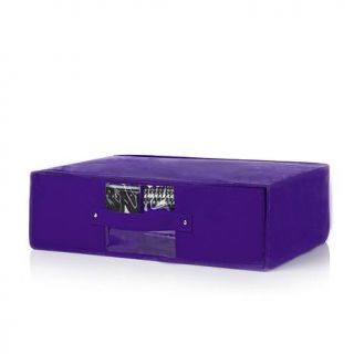 "Joy Mangano Huggable Hangers® 24"" Storage Box with Dividers   7541079"