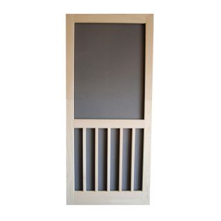 Screen Tight 5 Bar Natural Wood Screen Door (Common: 30 in x 80 in; Actual: 30 in x 80 in)