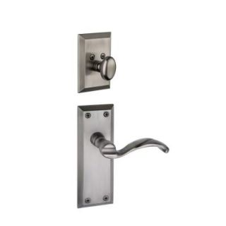 Grandeur Fifth Avenue Single Cylinder Antique Pewter Combo Pack Keyed Differently with Portofino Lever and Matching Deadbolt FAVPRT 68 AB KD