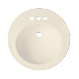 KOHLER Brookline Drop In Vitreous China Bathroom Sink in Almond with Overflow Drain K 2202 4 47