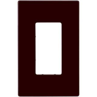 Eaton 1 Gang Screwless Decorator Polycarbonate Wall Plate   Brown PJS26B L