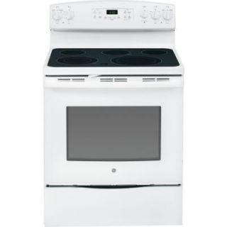GE 5.3 cu. ft. Electric Range with Self Cleaning Oven in White JB650DFWW