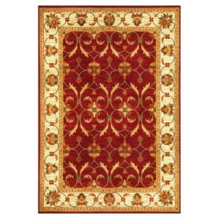 Kas Rugs State of Honor Red/Ivory 7 ft. 10 in. x 9 ft. 10 in. Area Rug LIF5468710X910