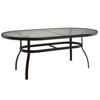 Woodard 827290W Deluxe 44 x 90 Rectangular Dining Table with Obscure Glass Top