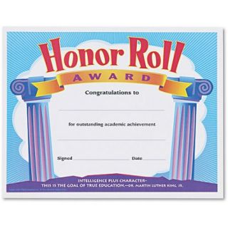 TREND Honor Roll Award Certificates, 8 1/2 x 11, 30/Pack