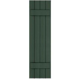 Winworks Wood Composite 15 in. x 56 in. Board & Batten Shutters Pair #656 Rookwood Dark Green 71556656   Mobile