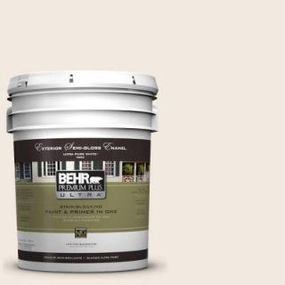 BEHR Premium Plus Ultra 5 gal. #W F 210 Nude Semi Gloss Enamel Exterior Paint 585005
